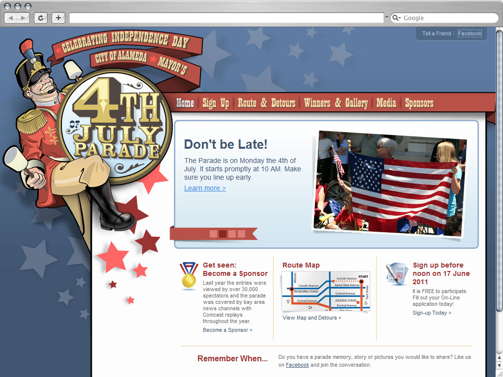 Alameda Parade Website Design By MJS Web Solutions