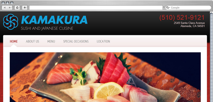 MJS Web Solutions Launches New Kamakura Restaurant Website