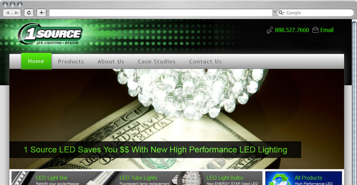 MJS Web Solutions Launches 1 Source LED Website