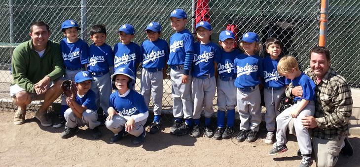 Great Season Alameda Little League T-Ball Dodgers