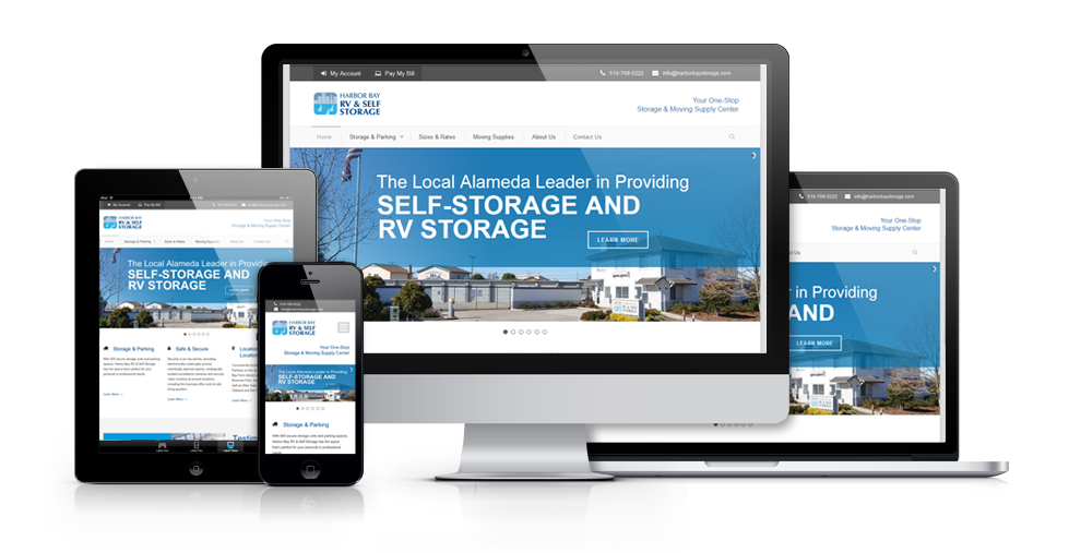 MJS Web Solutions Launches New Harbor Bay Storage Website