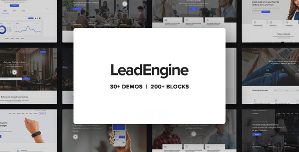 LeadEngine - Multi-Purpose WordPress Theme With Page Builder