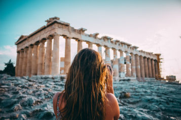 Woman Taking Photo In Athens