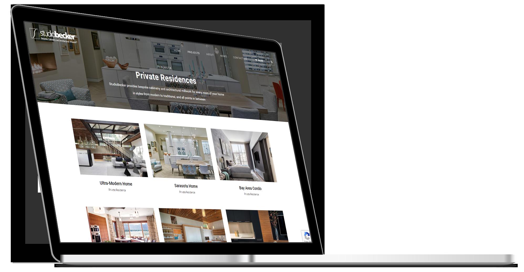 StudioBecker IPad Website Design Mockup
